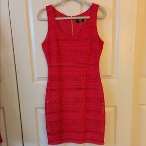 Guess Sz 6 Crocheted Red Dress